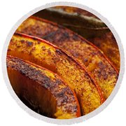 Roasted Pumpkin Round Beach Towel