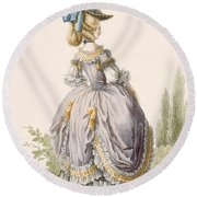 Robe De La Circassienne, Engraved Round Beach Towel
