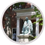 Robert Brooke Taney Statue - Maryland State House  Round Beach Towel
