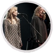 Robert Plant And Alison Kraus Round Beach Towel