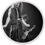 Robert Plant And Jimmy Page Round Beach Towel