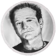 Robin Williams 2 Round Beach Towel