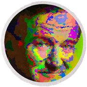 Robin Williams - Abstract Round Beach Towel