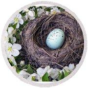 Robin's Nest Round Beach Towel