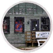 Robin's Nest Store In Autumn Michigan Usa Round Beach Towel