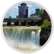 Rochester At High Falls Round Beach Towel