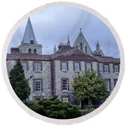 Rochester Cathedral Cafe Round Beach Towel