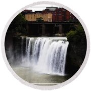 Rochester Ny High Falls Round Beach Towel