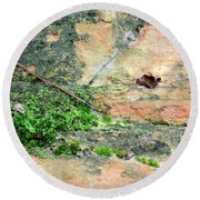 Rock Abstract 1 Round Beach Towel