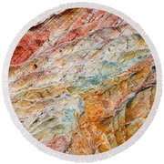 Rock Abstract #2 Round Beach Towel