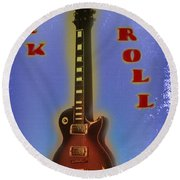 Rock And Roll - Les Paul Round Beach Towel