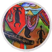 Rock Art Of Nevada Round Beach Towel
