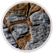 Rock Art Round Beach Towel