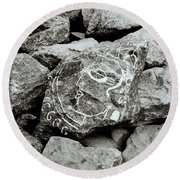 Rock Art Round Beach Towel