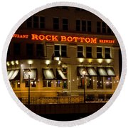 Rock Bottom - Milwaukee  Round Beach Towel