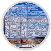 Rock Canyon Round Beach Towel