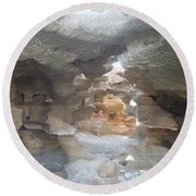 Rock Cave Round Beach Towel