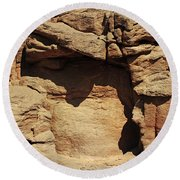 Rock Face 3 Round Beach Towel