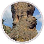 Rock Formation Belogradchik Round Beach Towel
