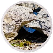 Rock Formation Devonian Fossil Gorge Round Beach Towel