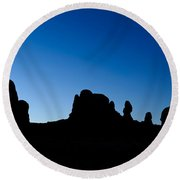 Rock Formations, Arches National Park Round Beach Towel