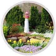 Rock Garden Round Beach Towel