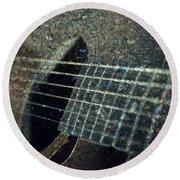 Rock Guitar Round Beach Towel