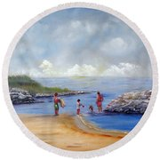 Rock Hall Beach Round Beach Towel