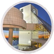Rock Hall Sunset Round Beach Towel