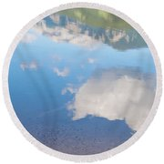 Rock Lake Alberta Canada And Willmore Wilderness Round Beach Towel