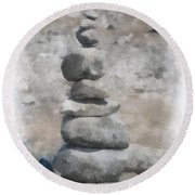 Rock Markers Photo Art 01 Round Beach Towel