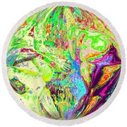 Rock 'n Roll In Crazy-gushing Colours Round Beach Towel