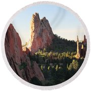 Rock Of Ages Round Beach Towel by Eric Glaser