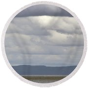 Rock Of Ages Lighthouse Isle Royale National Park Round Beach Towel