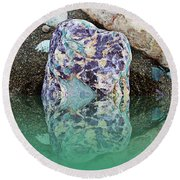 Rock Reflections - Water - Beach Round Beach Towel