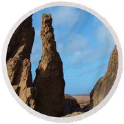 Rock Stack Round Beach Towel