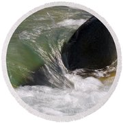 Rock The River Round Beach Towel