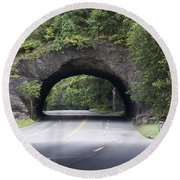 Rock Tunnel On Kelly Drive Round Beach Towel