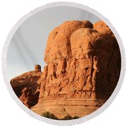Rockformation Arches Park Round Beach Towel