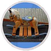Rocking Horse Round Beach Towel