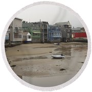 Rockport At Low Tide Round Beach Towel
