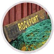Rockport Round Beach Towel