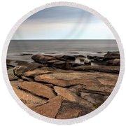 Rockport Rocks Round Beach Towel