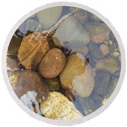 Rocks And Pebbles 2 Round Beach Towel