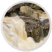 Rocks And Rapids Round Beach Towel