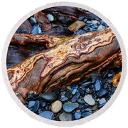 Rocks And Roots Round Beach Towel