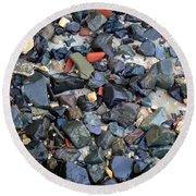 Rocks And Stones Round Beach Towel