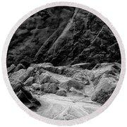Rocks At Pt. Lobos Round Beach Towel