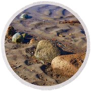 Rocks In A Row Round Beach Towel
