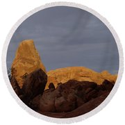 Rocks In Arches National Park Round Beach Towel